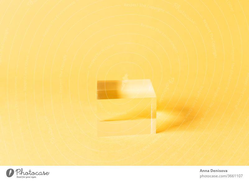 Massiver Display-Block aus Acryl Anzeige Blöcke solide Schaufenster leeres Podium Sockel-Anzeige geometrische Form Regal Produkt-Mockup