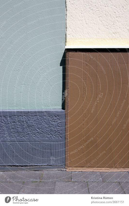 hauswand viererteilung mauer fassade gebäude reihenhaus reihenhäuser architektur fassadengestaltung struktur textur muster farbe farbig anstrich beschaffenheit