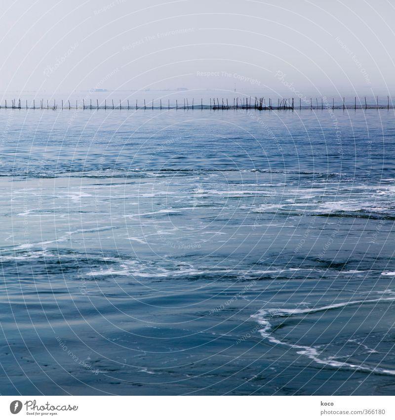 |||||||||||||||||| Umwelt Natur Wasser Himmel Sommer Wetter Wellen Küste Meer Lagune Hafen Zaun Barriere Holz Linie einfach nass blau schwarz weiß Sicherheit
