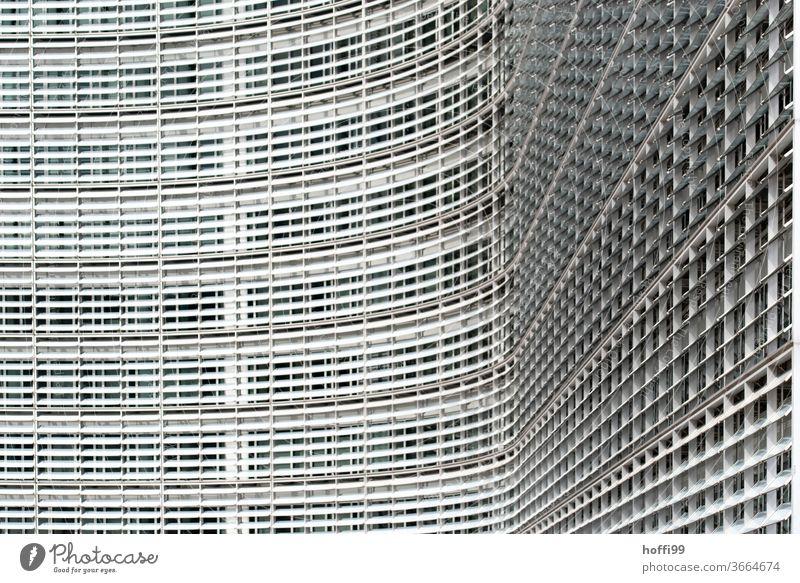 kurvige Fassade - Europäische Kommission Fenster gebogene Glasfassade Architektur Gebäude Hochhaus Haus Europa Europäische Union Bürogebäude abstrakt
