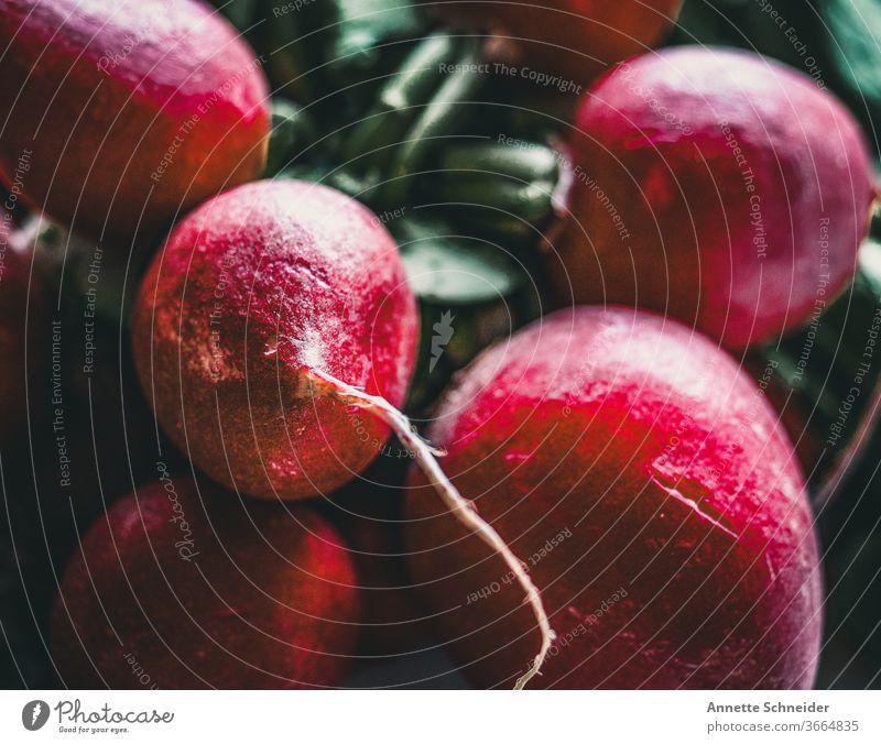 Radieschen Gemüse Vegetarische Ernährung Lebensmittel natürlich frisch Bioprodukte Gesunde Ernährung Gesundheit Diät