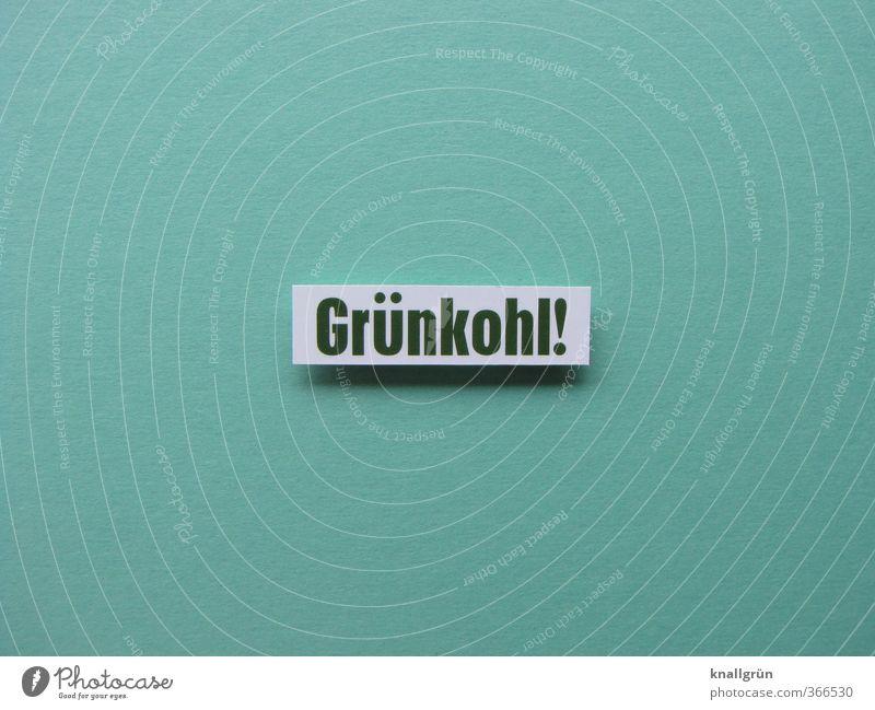 Grünkohl! Lebensmittel Gemüse Ernährung Mittagessen Vegetarische Ernährung Schriftzeichen Schilder & Markierungen Kommunizieren Gesundheit lecker grün Gefühle
