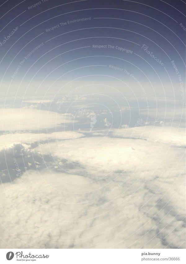 wolken ausm Flugzeug Natur Wolken Luft