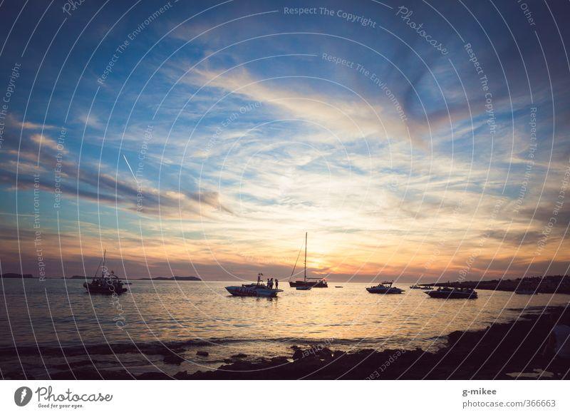 Ibiza Sunset Ferien & Urlaub & Reisen Freiheit Meer Insel Wasser Himmel Wolken Horizont Sonnenaufgang Sonnenuntergang Sommer Mittelmeer genießen ästhetisch