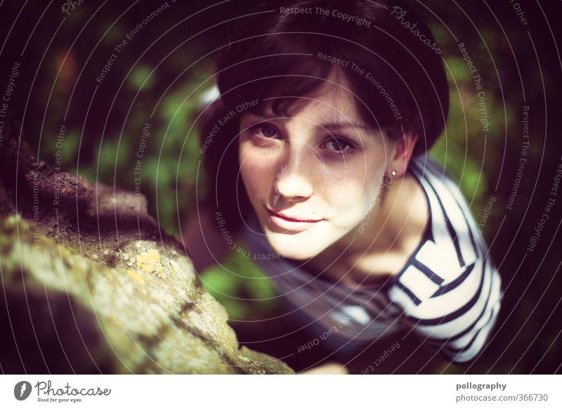 be natural IV Mensch feminin Junge Frau Jugendliche Erwachsene Leben Körper Kopf 1 18-30 Jahre Natur Pflanze Sonnenlicht Sommer Schönes Wetter Baum Gras Garten
