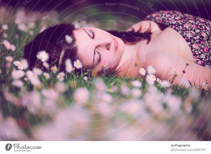 time for dream III Mensch feminin Junge Frau Jugendliche Erwachsene Leben Körper Kopf 1 18-30 Jahre Natur Pflanze Erde Frühling Sommer Schönes Wetter Blume Gras