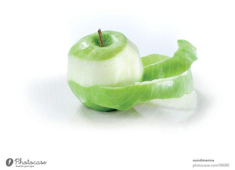 des Pudels Kern grün Gesundheit Ernährung Freisteller Apfel Stillleben Schalen & Schüsseln Spirale Schneidebrett Hülle Frucht häuten