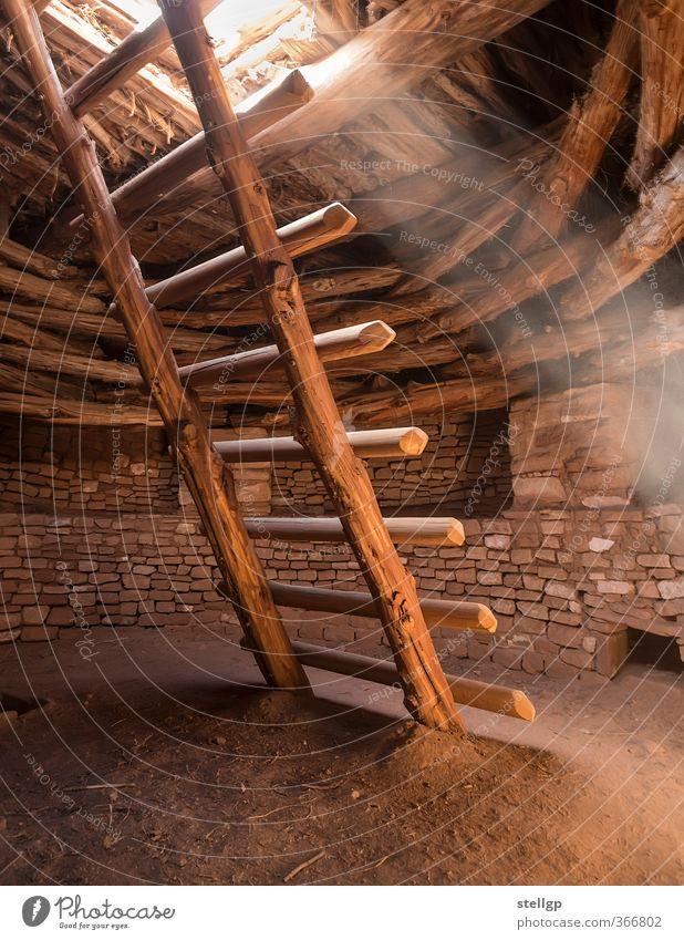 Heiliges Licht Architektur Kultur Menschenleer Bauwerk Gebäude Treppe Sehenswürdigkeit Denkmal Stein Sand Holz alt historisch rund Wärme braun gelb rot