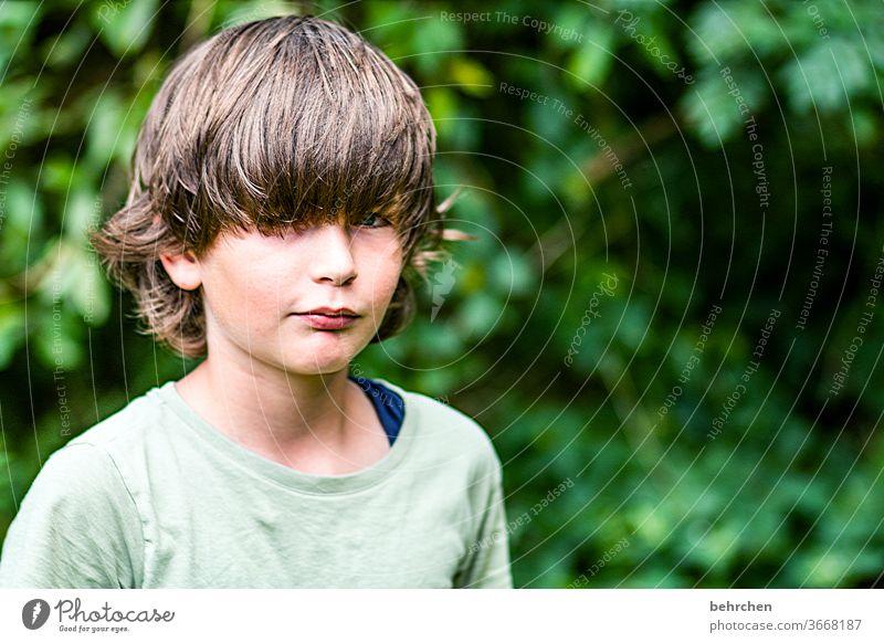 ähm, friseurbesuch überfällig?! Sohn Kopf Auge Lippen Mund Haare & Frisuren Sonnenlicht Porträt Kontrast Licht Tag Gesicht Kindheit Junge Nahaufnahme Familie