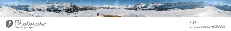 400° Panorama vom Betelberg Panorama (Aussicht) Schweiz Berner Oberland Schneeberg Berge u. Gebirge Rundumpanorama Alpen Schweizeralpen Lenk Wildstrubel 360°