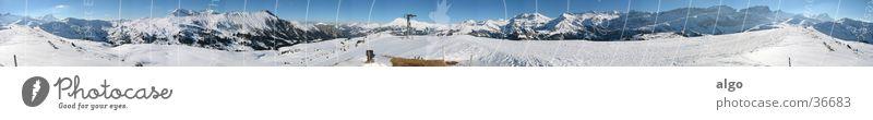 400° Panorama vom Betelberg Schnee Berge u. Gebirge groß Schweiz Alpen Panorama (Bildformat) Schneeberg Berner Oberland
