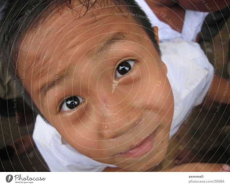 Thai Kid Kind Mann Gesicht Auge Junge Thailand