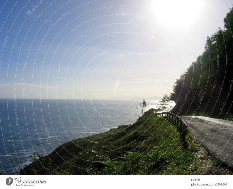 ontheroad Meer Gegenlicht Horizont unterwegs Europa Straße Sonne