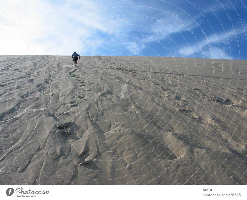 himmelstürmer Mensch Wärme Sand Horizont Europa Physik aufwärts Stranddüne