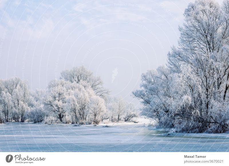 Gefrorenes Wasser, Schnee und Eis auf dem Dnjepr Dnjepr Fluss Kiew Ukraine blau Brechen Gebäude Großstadt kalt cool Craquelure Morgendämmerung Einfluss Frost