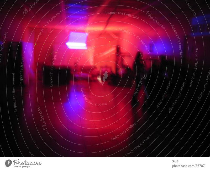 Partylicht Mensch blau rot