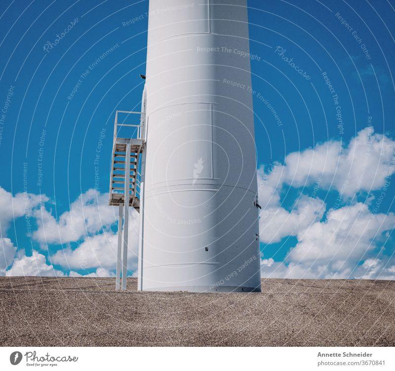 Windrad Windkraftanlage Erneuerbare Energie Himmel Umwelt Außenaufnahme Umweltschutz Elektrizität alternativ Rotor Sauberkeit umweltfreundlich Ressource