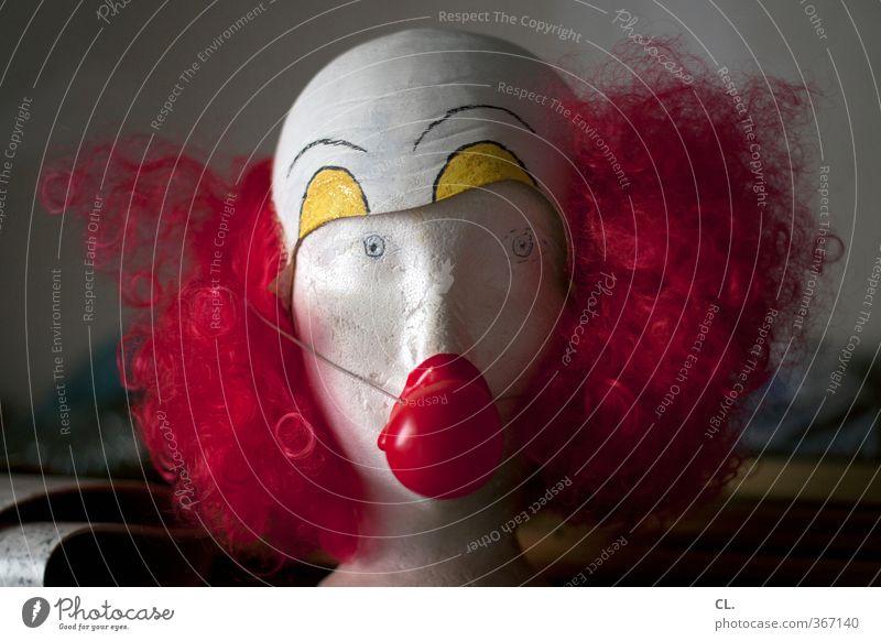 clown Erholung rot Freude lustig Haare & Frisuren Kopf Feste & Feiern Party Fröhlichkeit Nase Pause Lebensfreude Neugier Karneval skurril bizarr