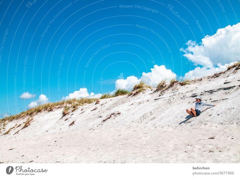 der himmel auf erden Strand Meer Düne Darß Ostsee Außenaufnahme Himmel Wolken Natur Landschaft Küste Farbfoto Ferien & Urlaub & Reisen Kindheit Spaß haben
