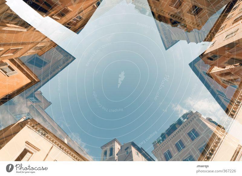 Immobil Lifestyle Stil Design Ferien & Urlaub & Reisen Tourismus Wolkenloser Himmel Rom Italien Altstadt Haus Bauwerk Gebäude Architektur Fassade Fenster
