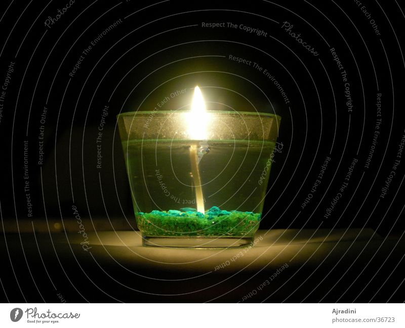 Kerze im Glas 2 durchsichtig Flamme Kerzenglas