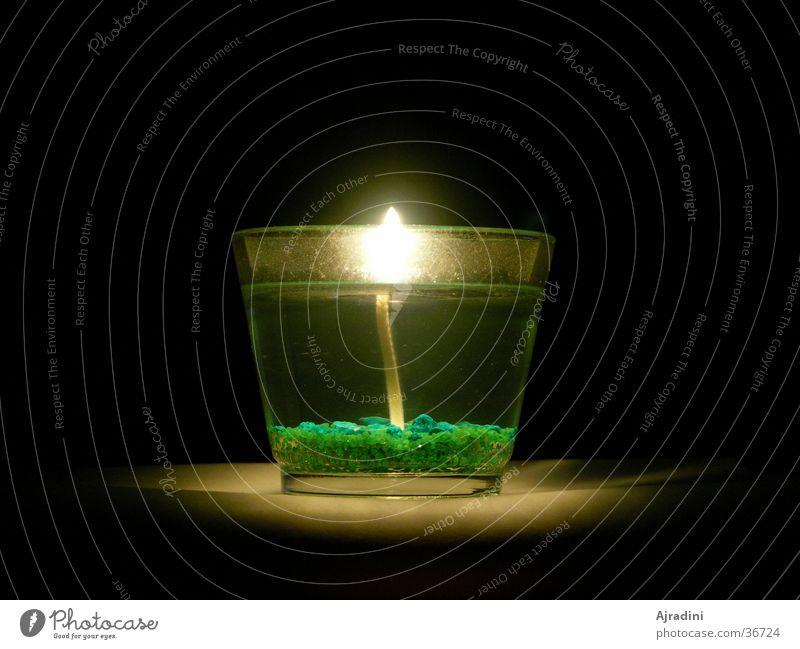 Kerze im Glas durchsichtig Kerzenglas Flamme
