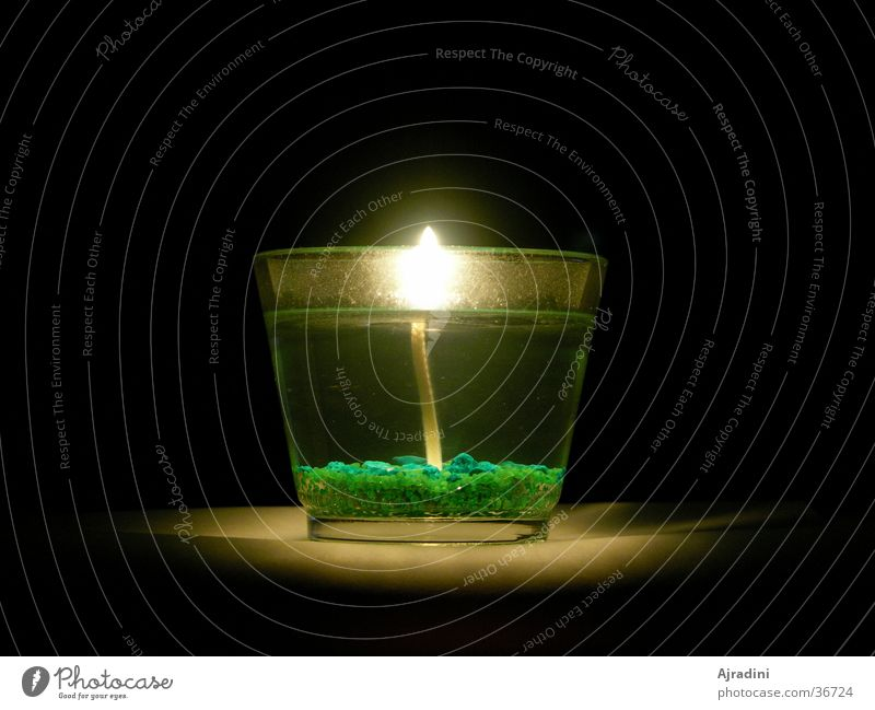 Kerze im Glas durchsichtig Flamme Kerzenglas