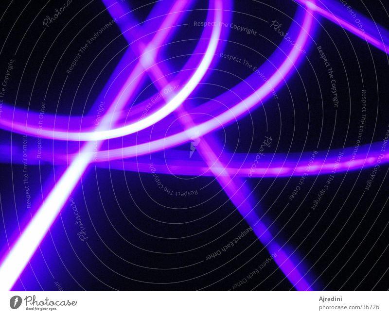 UV-Licht 2 violett Buchstaben Lichtspiel Schwarzlicht