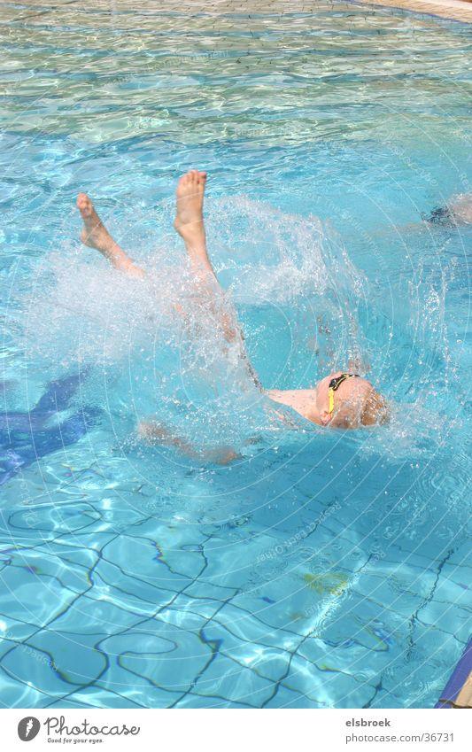 Springer springen Salto Sport Wasser Spinger Schwimmen & Baden Momentaufnahme