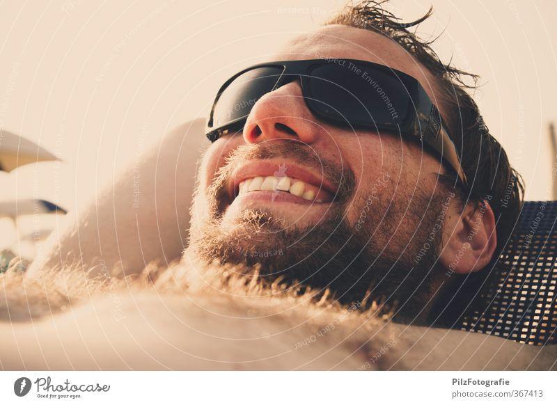 Sun Mensch Jugendliche Ferien & Urlaub & Reisen Sommer Sonne Erholung Freude Strand Erwachsene Junger Mann 18-30 Jahre Haare & Frisuren Glück Körper maskulin