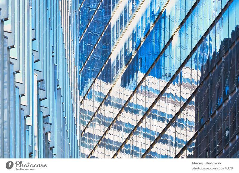 Moderne Gebäude Fassaden Fassaden abstrakte Architektur Hintergrund. Fenster Wolkenkratzer Wand New York State Großstadt Büro Appartement Grundbesitz Turm hoch