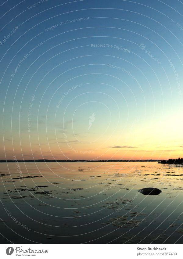 Ohne Leuchtturm geht es auch Sommer Strand Meer Wellen Umwelt Natur Landschaft Urelemente Luft Wasser Himmel nur Himmel Wolkenloser Himmel Nachthimmel Horizont