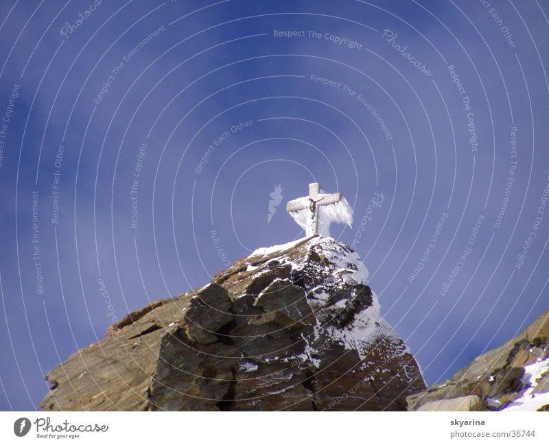 Eiskreuz Götter Eisskulptur Religion & Glaube Symbole & Metaphern Berge u. Gebirge Rücken Gott
