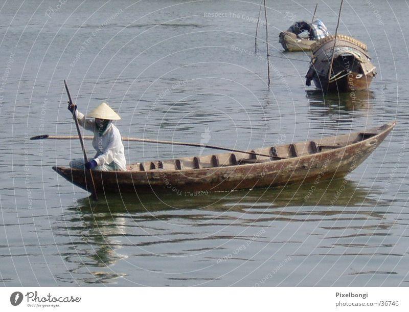 The Fisher King Ferien & Urlaub & Reisen ruhig Armut Fluss Fernweh Fischer Vietnam