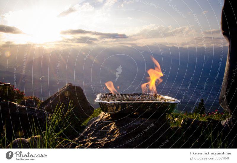 GLÜCK kann man nicht kaufen. Mensch Natur Ferien & Urlaub & Reisen Sommer Erholung Landschaft Ferne Umwelt Berge u. Gebirge Gras Freiheit Glück Felsen