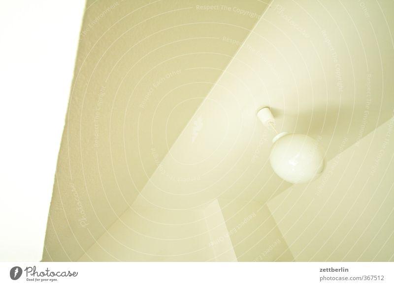 Decke again Häusliches Leben Wohnung Traumhaus Lampe gut weiß decke Deckenlampe Geometrie kante wallroth Ecke zimmer Zimmerdecke Farbfoto Gedeckte Farben