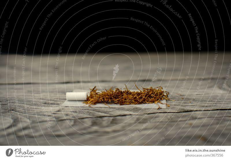 ...raucherpause! Erholung Holz natürlich genießen Pause Rauchen Tabakwaren drehen Rauschmittel Zigarette Sucht Nervosität Maserung Tabak Drogensucht Filterzigarette