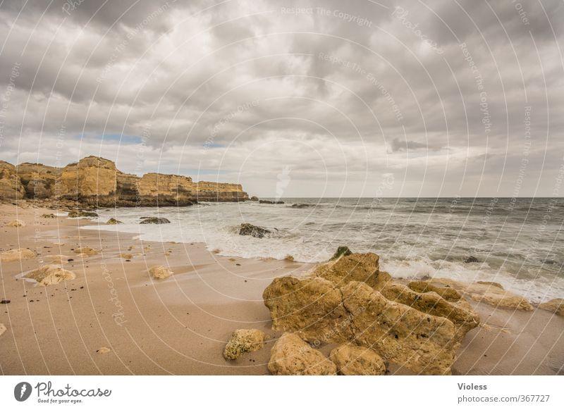 ...stormy day at sea Ferien & Urlaub & Reisen Sommer Meer Wolken Strand Ferne Freiheit Stein Stimmung Wellen bedrohlich Abenteuer Sturm Fernweh Sightseeing Algarve