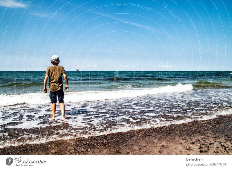 ...außer dir im jetzt und hier und dem tag am meer Erholung Deutschland Fischland-Darß Tourismus Kind Kindheit Sommer Mecklenburg-Vorpommern Ostseeküste