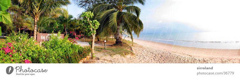 Koh Kho Khao Resort Wasser Sonne Meer grün blau Sommer Strand Ferien & Urlaub & Reisen ruhig Einsamkeit gelb Ferne Sand Küste groß frei