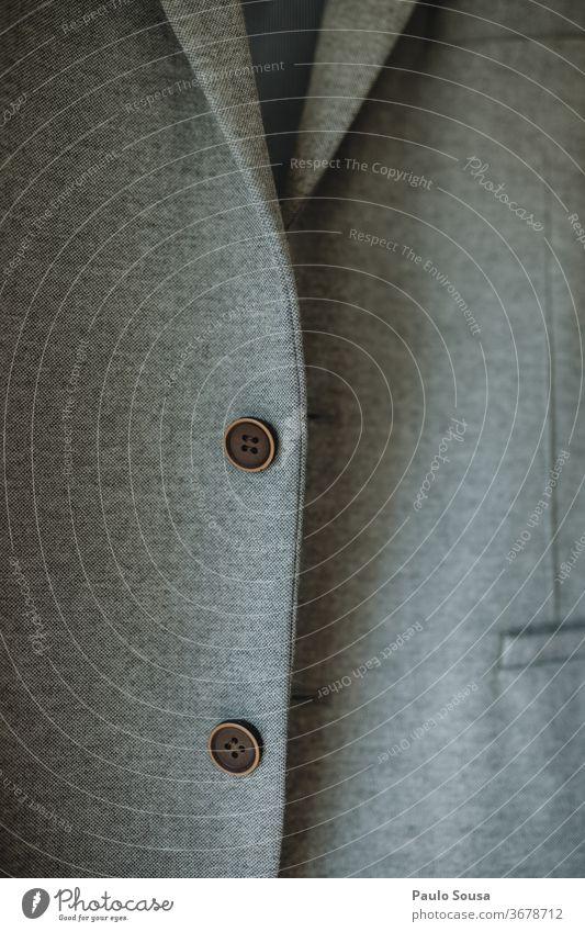 Anzugjacke mit Knöpfen Blazer modern Blick jung Kleidung Jacke Gewebe Textil Mode Farbe Material Detailaufnahme Design Textur Bekleidung Nahaufnahme Muster
