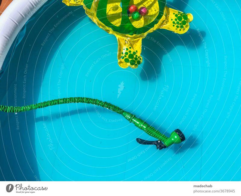 Pool Party not Swimmingpool Sommer Wasser Urlaub Hitue Ablühlung heiß Sonne Ferien & Urlaub & Reisen Tourismus Sommerurlaub Meer Farbfoto Strand Erholung