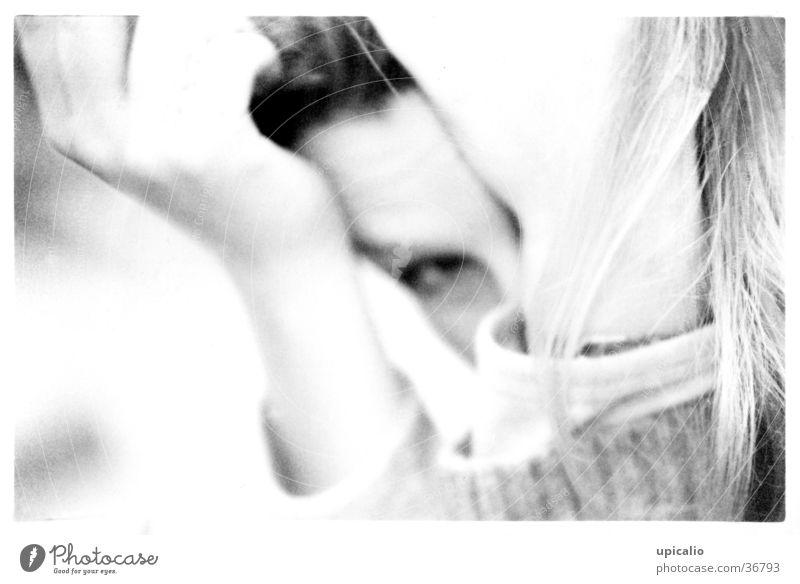 Schäm Frau Hand Auge Stimmung Gesichtsausdruck
