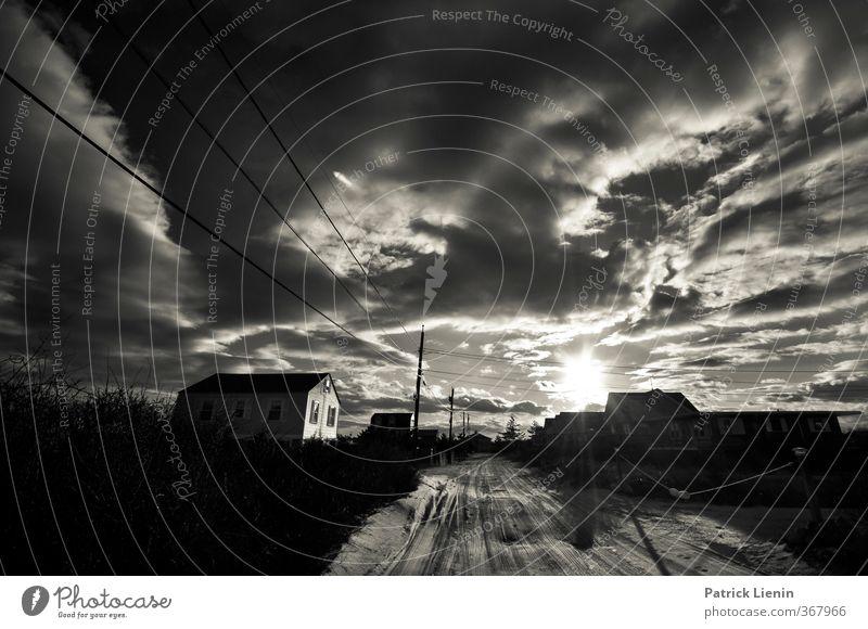 Strandhaus Ferien & Urlaub & Reisen Tourismus Sommerurlaub Sonne Umwelt Natur Landschaft Urelemente Luft Himmel Wolken Gewitterwolken Sonnenaufgang