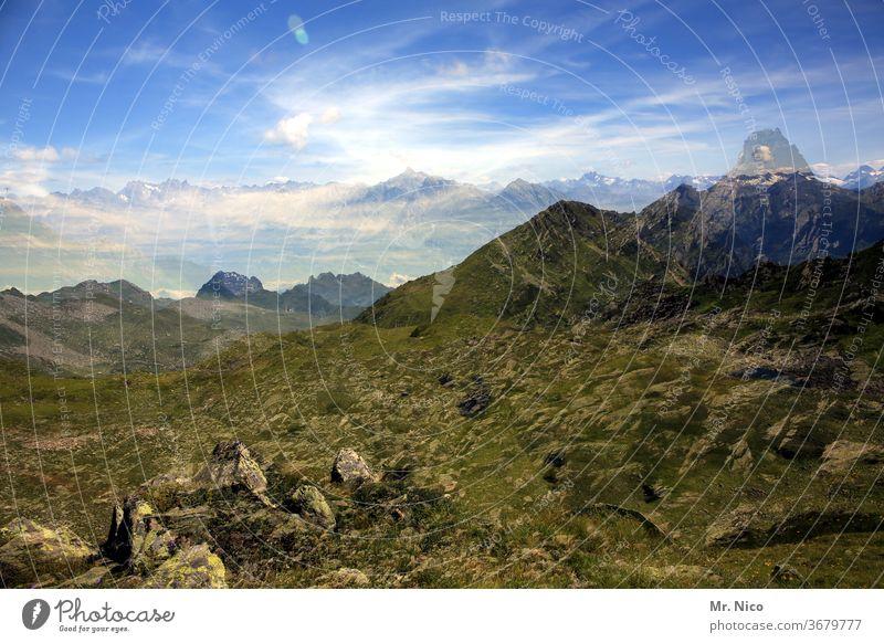 gedoppelte Berge Alpen Berge u. Gebirge Himmel Österreich Aussicht Ferien & Urlaub & Reisen wandern Gipfel Panorama (Aussicht) Natur Landschaft Ausflug Wolken