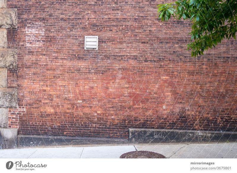 Außenmauer und Fußboden aus Ziegelstein abstrakt gealtert Vorläufer architektonisch Architektur Kunst Hintergrund Keller blanko Klotz Blöcke Baustein