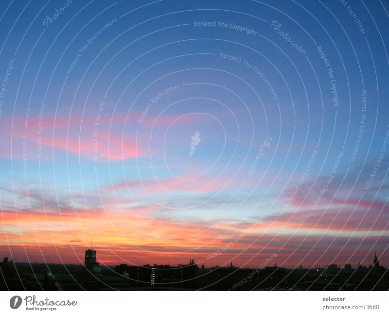 münchen Himmel Sonnenuntergang München sky Stadt sundowner Skyline Abend