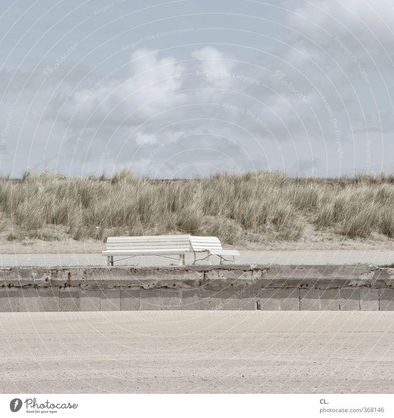 sandbank Ferien & Urlaub & Reisen Tourismus Ausflug Ferne Freiheit Sommerurlaub Strand Meer Insel Umwelt Natur Landschaft Sand Himmel Wolken Frühling