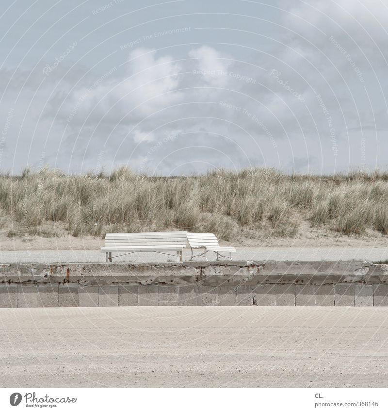 sandbank Himmel Natur Ferien & Urlaub & Reisen Sommer Meer Erholung Landschaft ruhig Wolken Strand Umwelt Ferne Frühling Küste Freiheit Sand