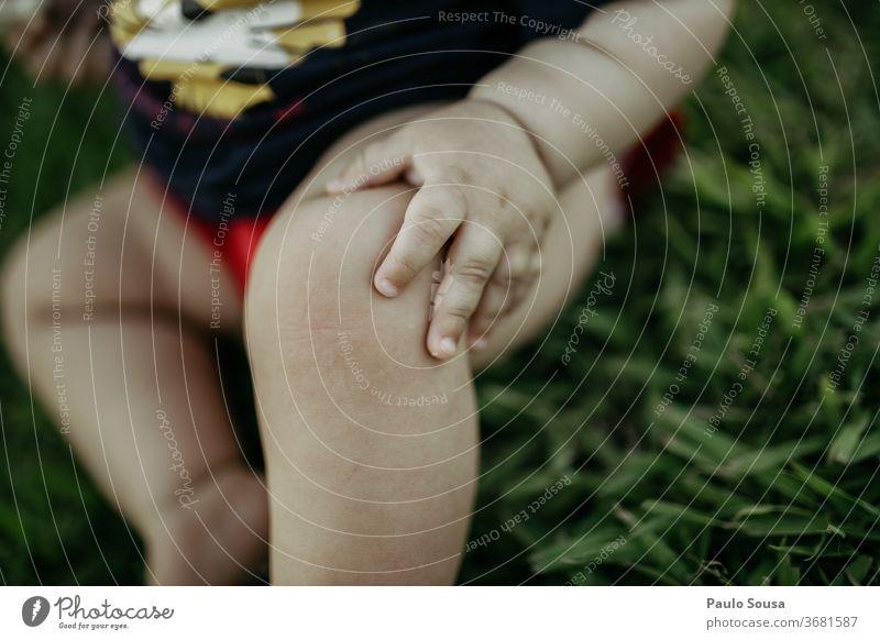 Nahaufnahme Baby-Hand 0-12 Monate schön Kind Finger Detailaufnahme Kindheit Farbfoto Mensch Tag Körperteil Haut Leben Glück Gefühle niedlich klein Freude